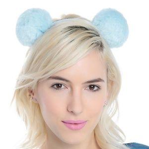 Pastel Blue Pom Pom Headband
